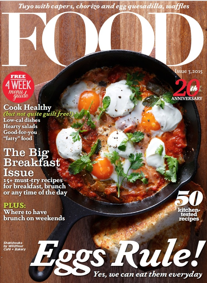 """Eggs Rule!"" — the title of the 20th anniversary issue is set in Dapifer Bold Italic."