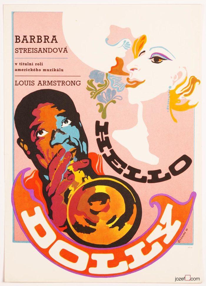 Hello Dolly movie poster (Czechoslovakia)