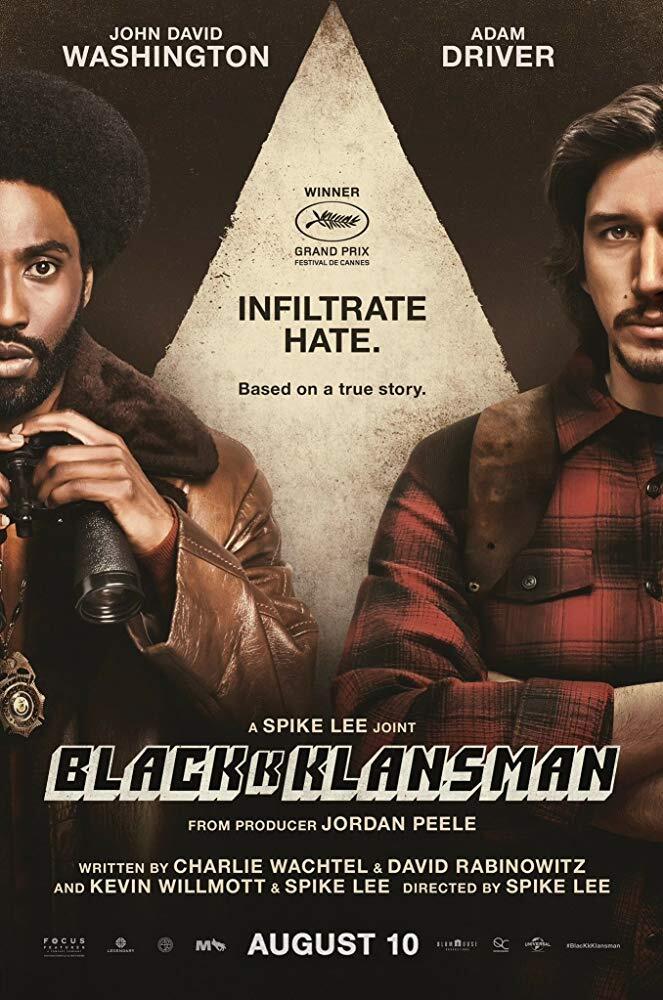 BlacKkKlansman (2018) movie posters, trailer, soundtrack, ads 3