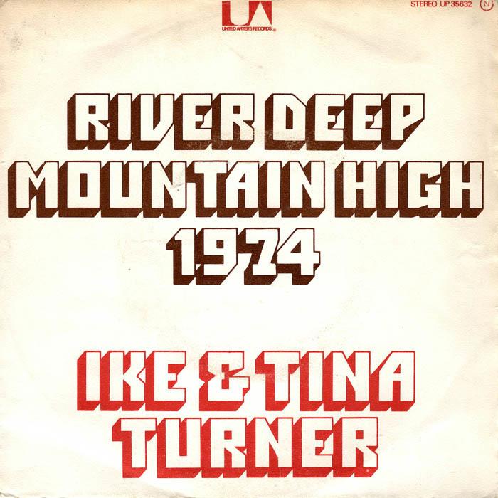 "Ike & Tina Turner – ""River Deep – Mountain High"" French single cover"