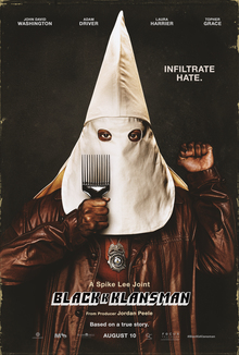 <cite>BlacKkKlansman</cite> (2018) movie posters, trailer, soundtrack, ads