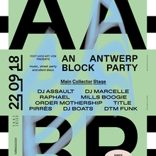 An Antwerp Block Party poster