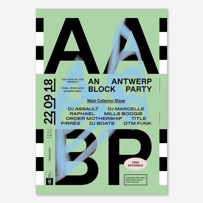 An Antwerp Block Party poster