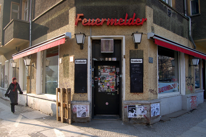 The Feuermelder entrance at daylight, 2006.