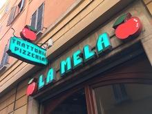 La Mela trattoria pizzeria signage