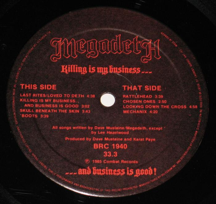 Killing Is My Business … And Business Is Good! – Megadeth 3