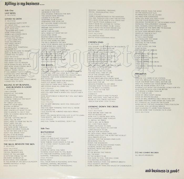 Lots of Optima caps for the lyrics.
