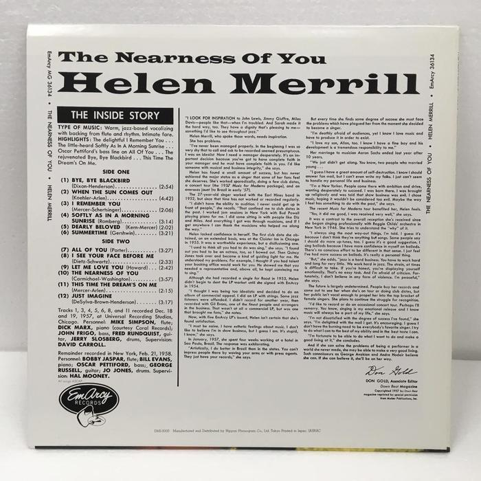 The Nearness Of You – Helen Merrill 2
