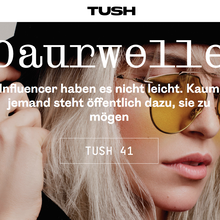 <cite>Tush</cite> magazine website