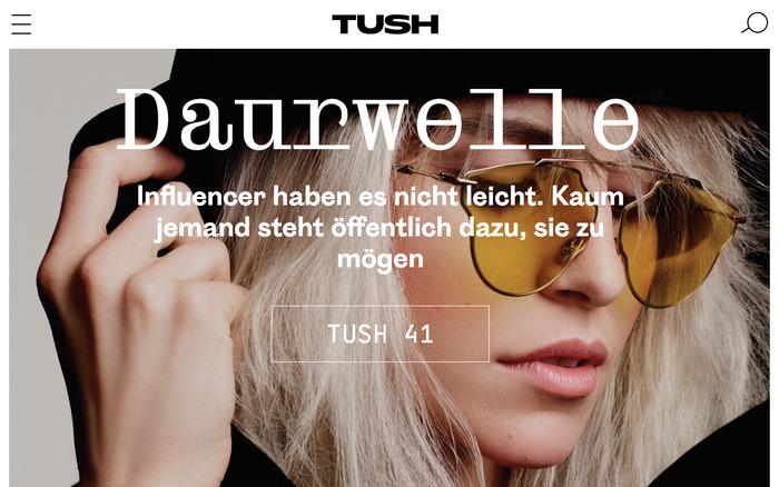 Tush magazine website 1