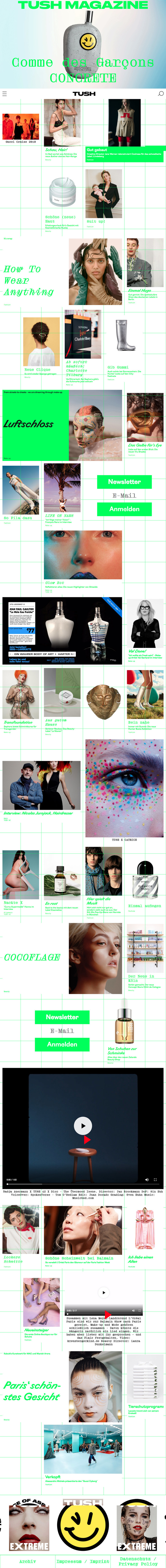 Tush magazine website 2