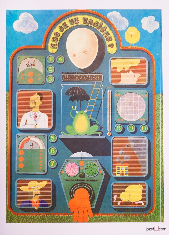 Who Is In the Egg? (Czechoslovak movie poster)