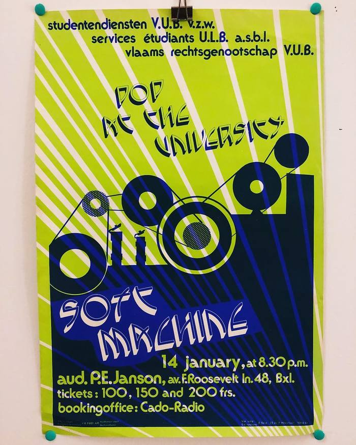 Soft Machine concert poster