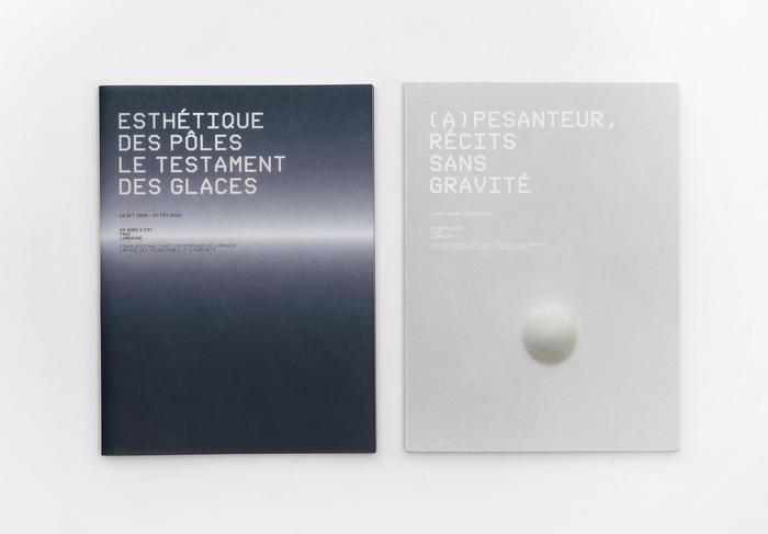 Exhibition catalogs for FRAC Lorraine in Metz, France. Nik Thoenen, 2008.