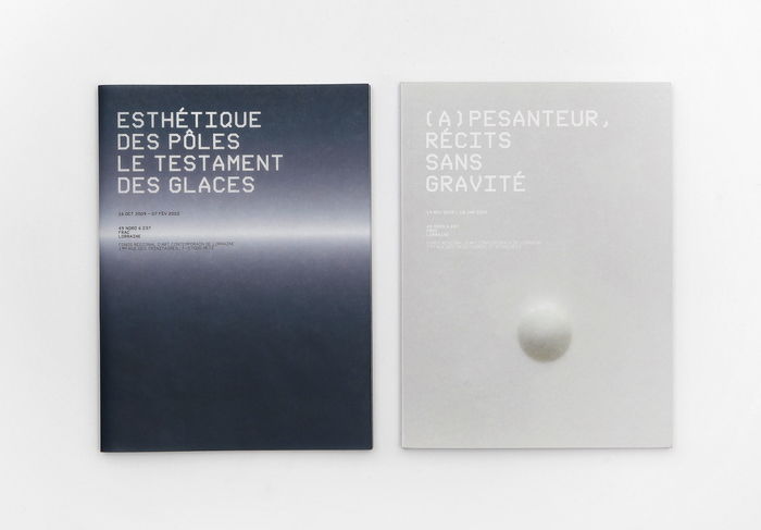 Exhibition catalogs for FRAC Lorraine in Metz, France. Nik Thoenen, 2008.
