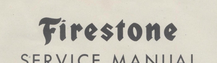 Firestone Service Manual and Parts Catalog, 1949.