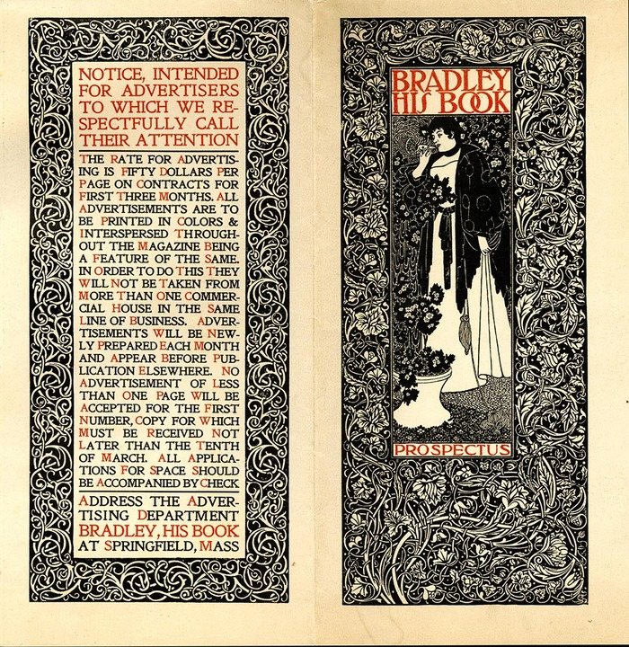 Prospectus for Bradley: His Book, ca. 1896.