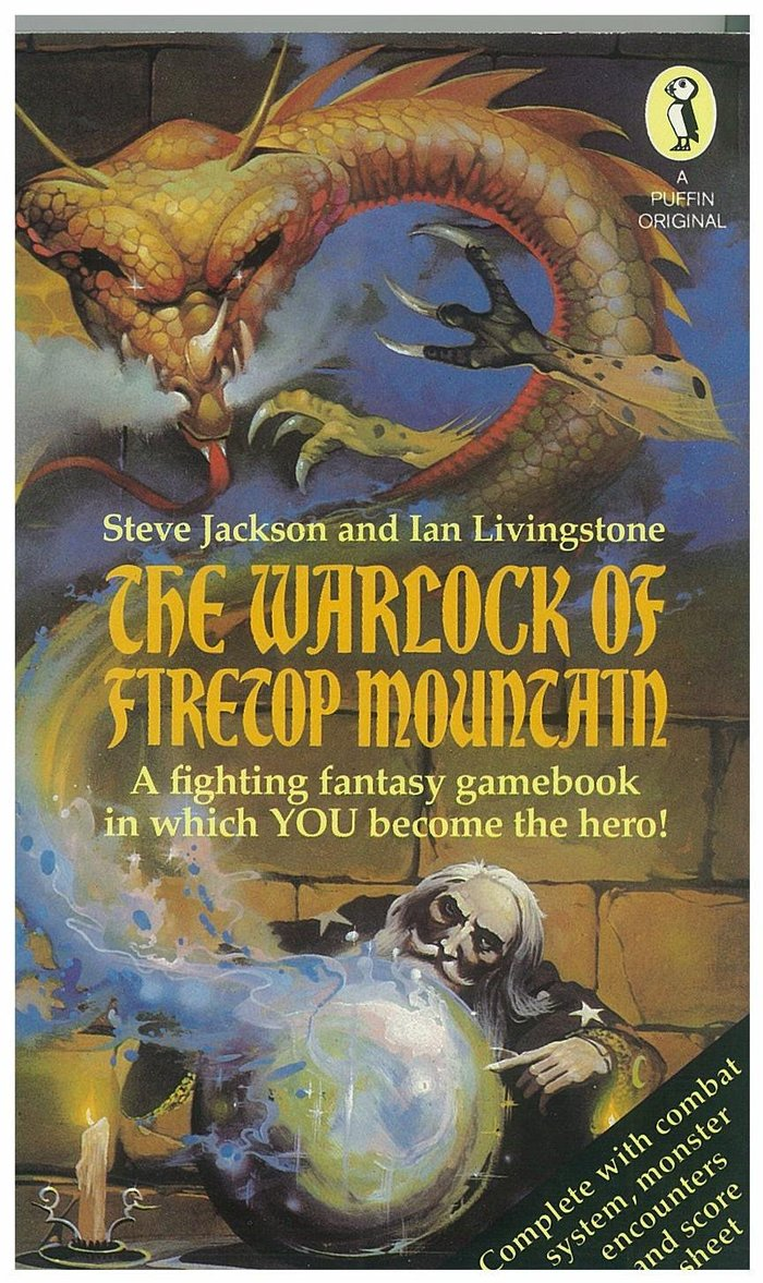 First edition, Puffin Books, 1982. Cover art by Peter Andrew Jones. The secondary typeface is Palatino Bold.