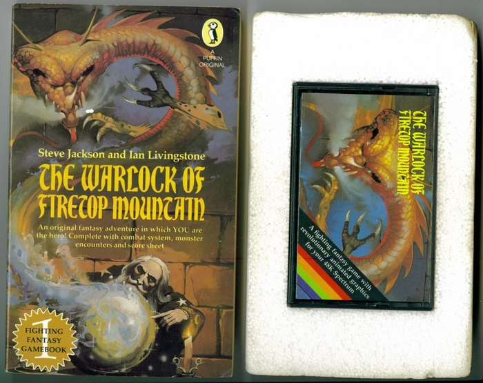 "Content of the ZX Spectrum Software Pack, including the game cassette and the 1983 ""Colour Star"" edition of the book."