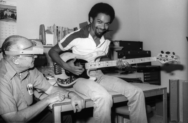 Brothers Johnson bassist Louis Johnson was a consultant to Leo Fender's CLF Research, from the beginning. His mastery of relatively new playing technique