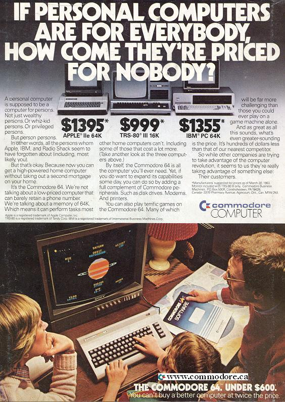 Computers For Everybody … Priced for Nobody / C64 for under $600 / Compute!, August 1983