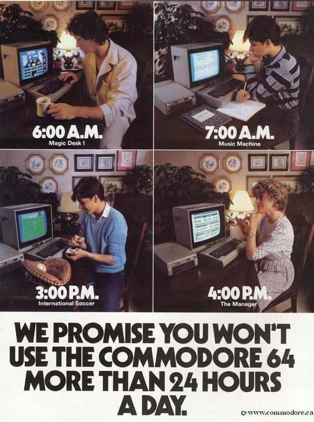 Commodore 64 magazine advertising - Fonts In Use