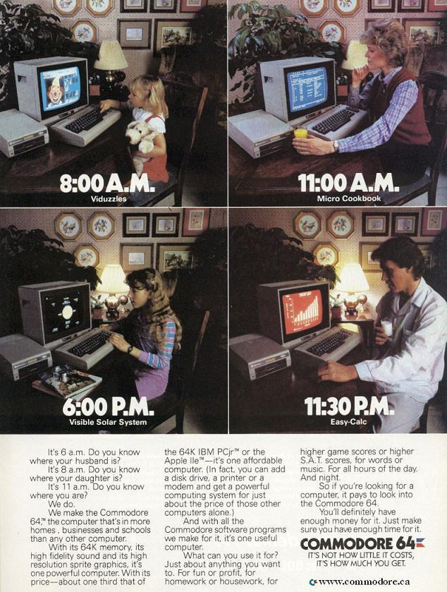 We Promise You Won't Use The Commodore 64 More Than 24 Hours a Day — Part 2 / Commodore Microcomputers, Feb. 1985