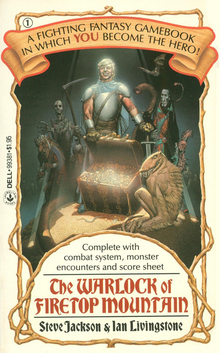 <cite>Fighting Fantasy</cite> gamebook series (Laurel Leaf/Dell)