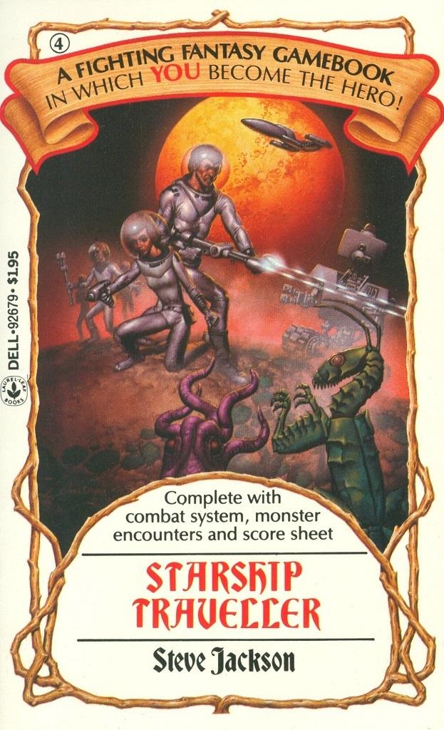 4. Starship Traveller by Steve Jackson, 1984. Cover art by Richard Corben.