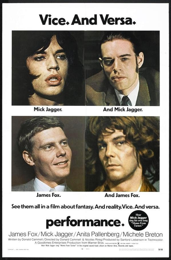 US poster. A sticker was added, promoting the soundtrack performed by Mick Jagger.