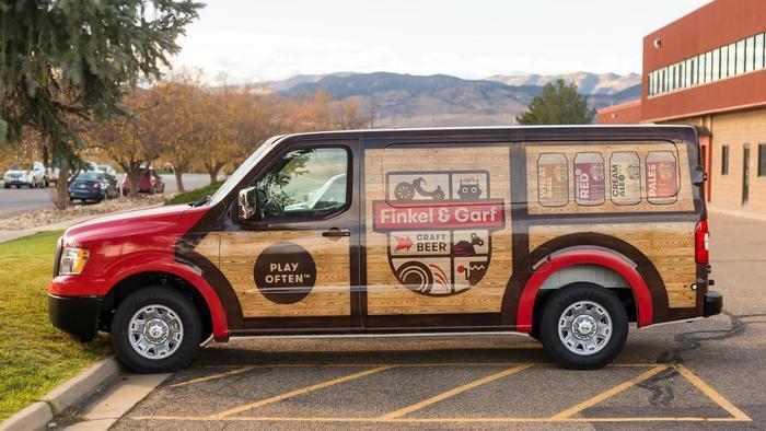 Vehicle wrap design by Eli Bates