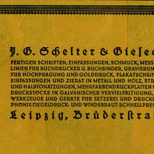 J. G. Schelter & Giesecke ads (1922)