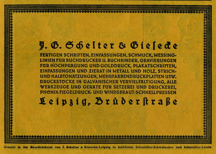 J. G. Schelter & Giesecke ads (1922) 1