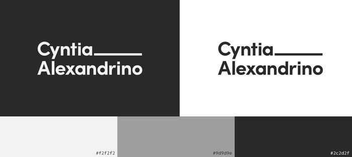 Cyntia Alexandrino visual identity 2