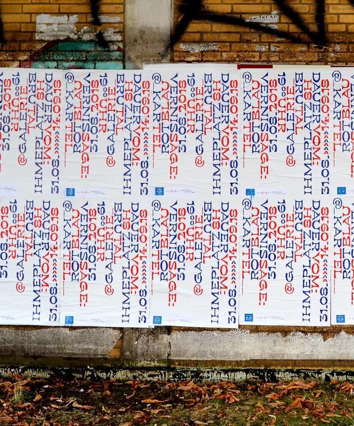 Rotblau solo exhibition, Galerie Brutal 3