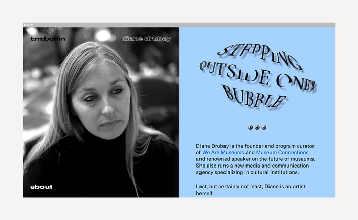Issue landing page with Écriture (Benoît Bodhuin) on top of outlined and stretched Druk Wide.