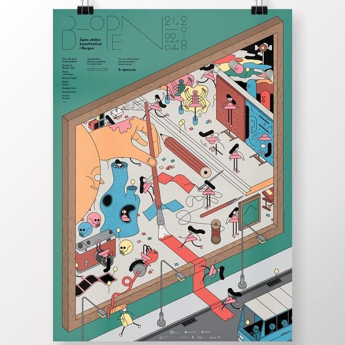 B-Open Art Festival identity (2018) 1