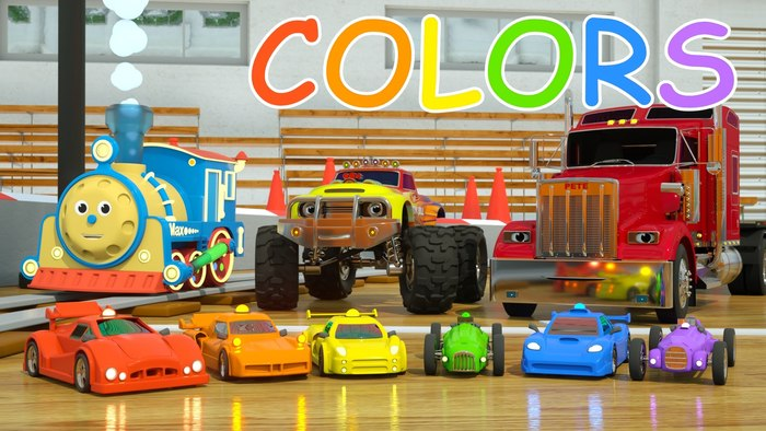 The word Colors uses a Comic Sans typeface.