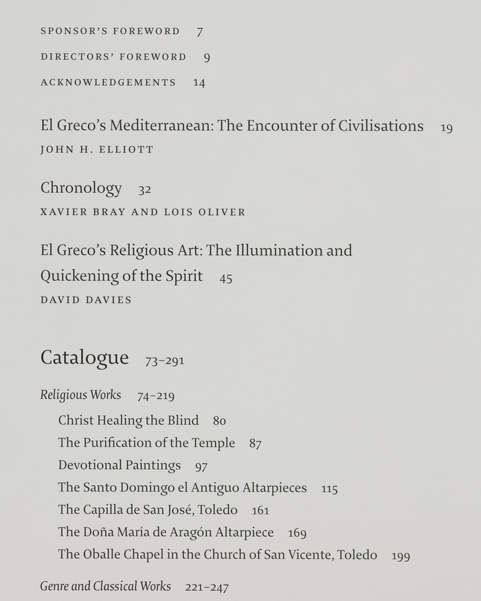 El Greco exhibition catalogue 2