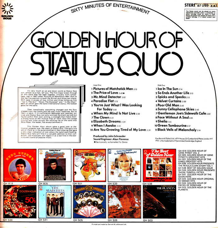 Golden Hour Of Status Quo 3
