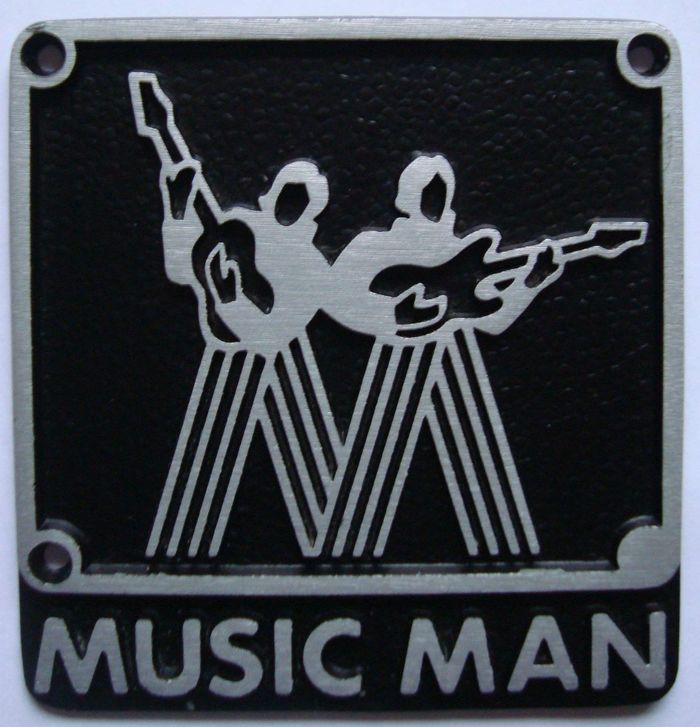 The original Music Man amp logo. Something to note is that Music Man amps and guitars were made by two separate factories. Leo Fender-built guitars used Neil Bold for Music Man. Forrest White built amps used Futura Bold.