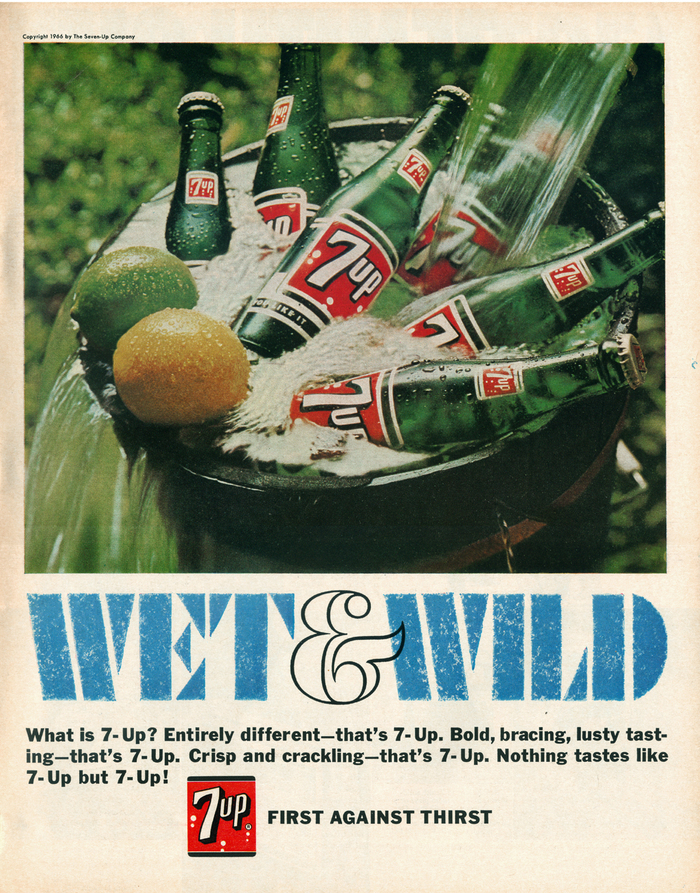 """""""Wet & Wild"""" ads for Seven-Up 3"""