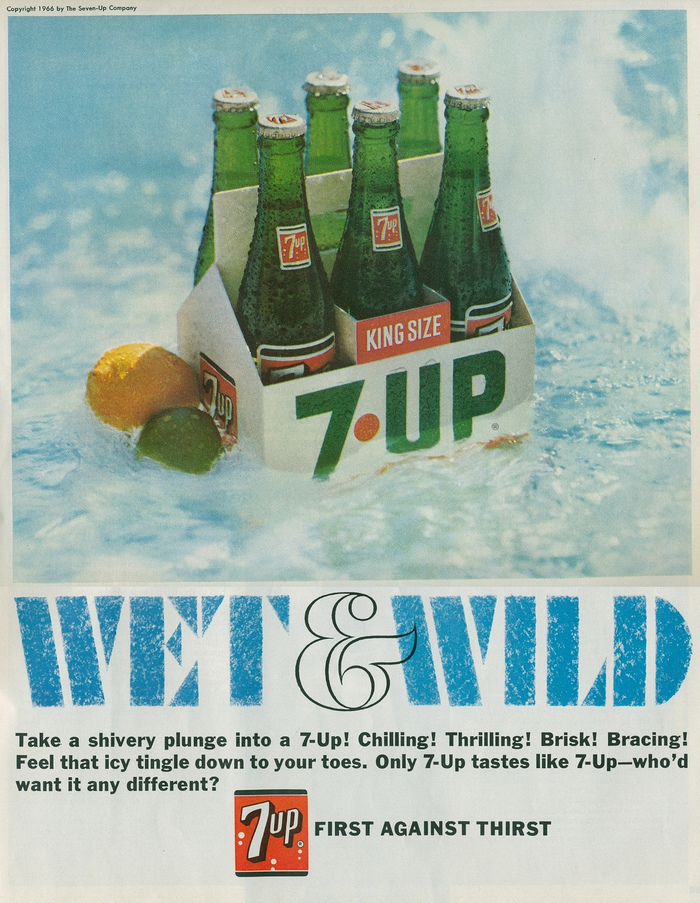 """Wet & Wild"" ads for Seven-Up 4"