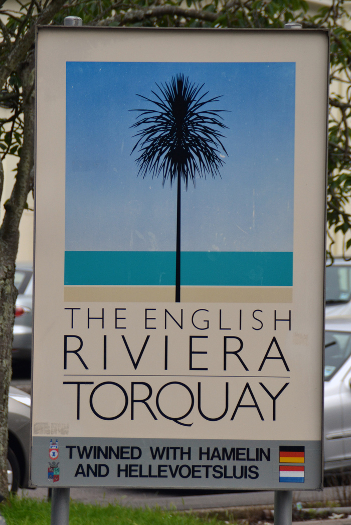 A variation of the original palm tree poster, spotted in 2012 outside Torquay Station.