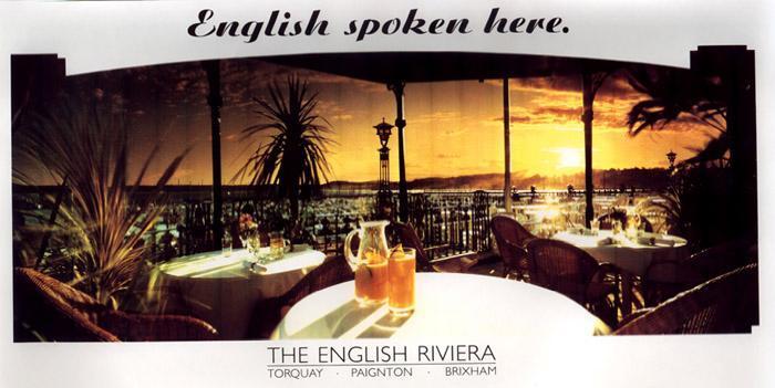 English Spoken Here, 1993. The script is Ariston extrafett (Berthold, 1936).