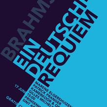 <cite>Ein Deutsches Requiem</cite> concert poster