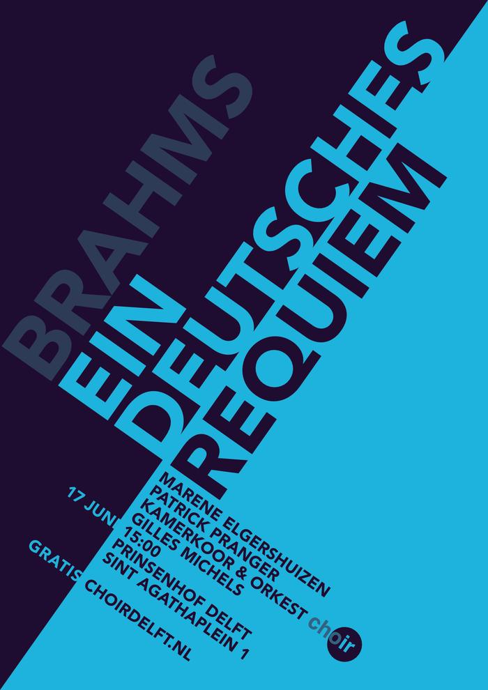 Ein Deutsches Requiem concert poster