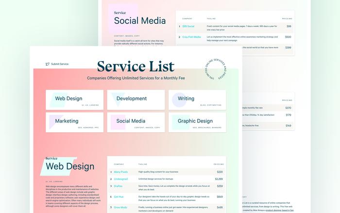Service List