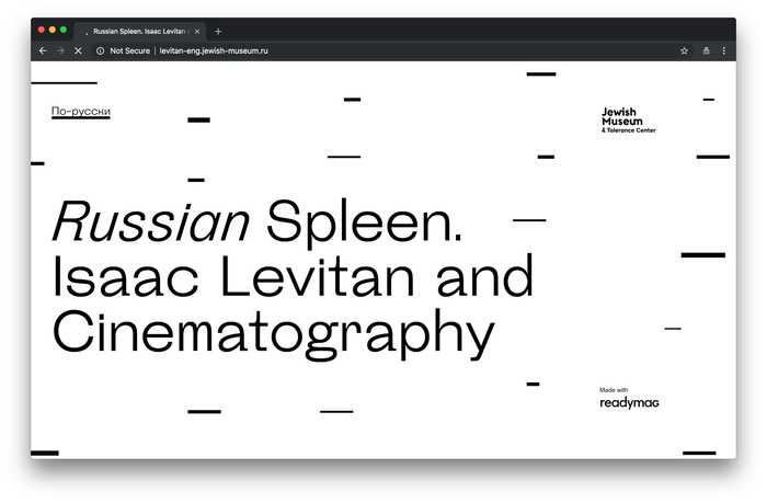 Russian Spleen. Isaac Levitan and Cinematography 1