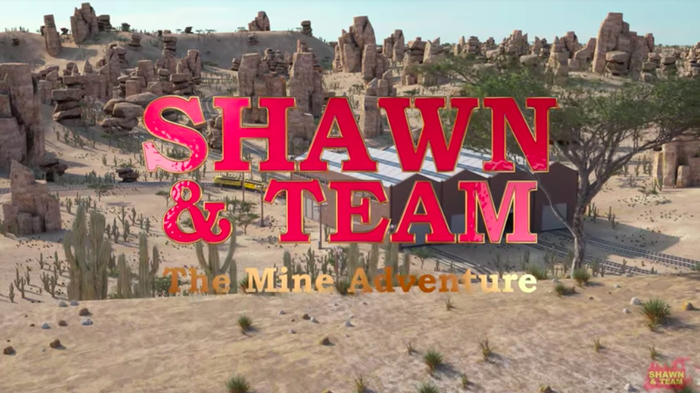 """Title card from episode 1, """"The Mine Adventure""""."""